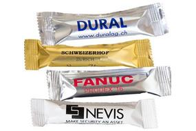 Produkt News Logo Druck auf einzelverpackten Hüppen