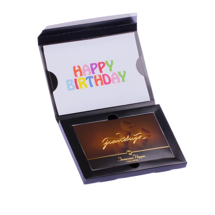 Straumann Hüppen Hüppen-Brief Versandbox edel Beispiel Happy Birthday